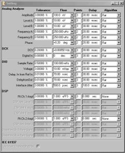 2700 Series Settling Parameters