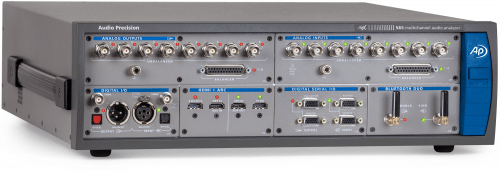 APx585 Audio Analyzer with HDMI, Digital Serial and Bluetooth Duo options installed