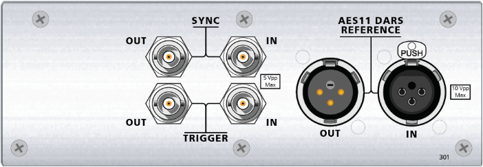 Inputs & Outputs of the Advanced Master Clock module for APx B Series Audio Analyzers
