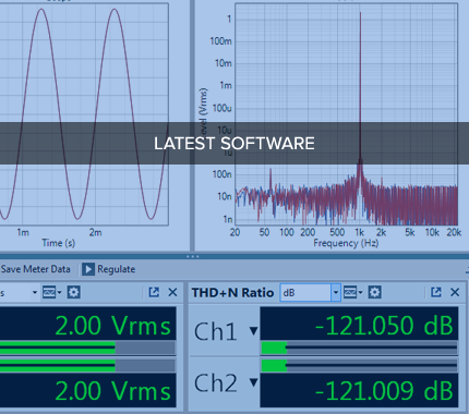Access Audio Precision's library of audio measurement software