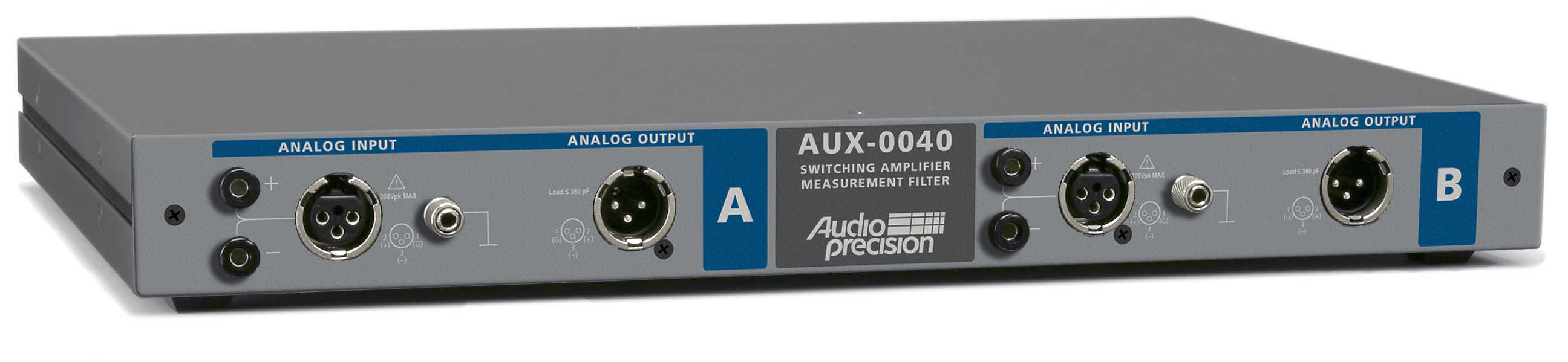 Aux 0025 0040 0100 Switching Amplifier Measurement Filters Noise Filter For Stereo System The Is A Two Channel Passive With 20 Hz To Khz Passband It Designed Be Used Analyzers Including Apx555