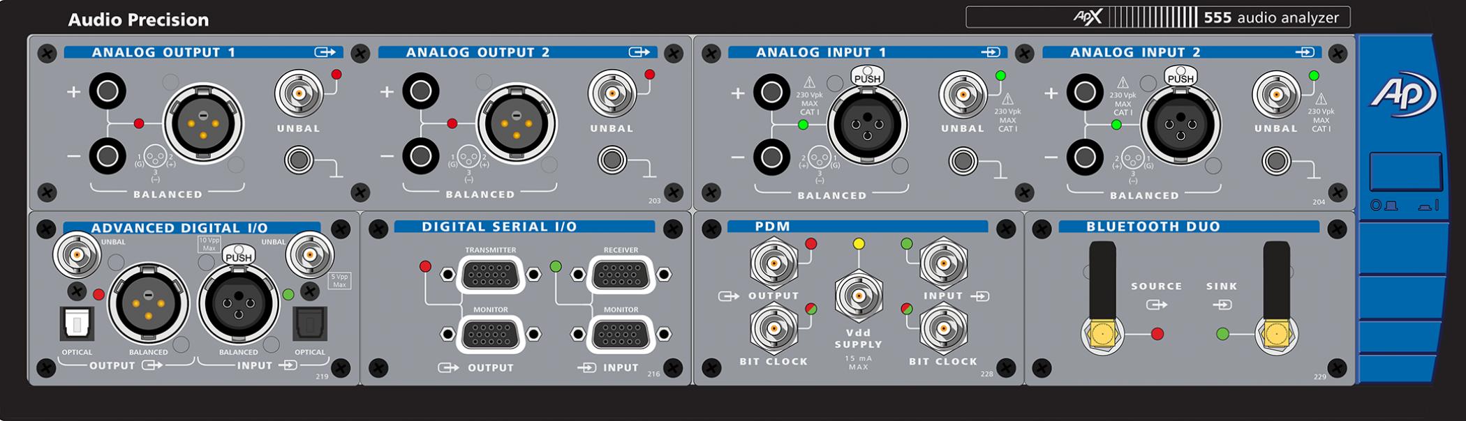 Apx555 Audio Analyzer Precision Distortion Meter