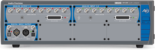 APx58x Series Eight- and Sixteen-Channel Modular Audio Analyzers