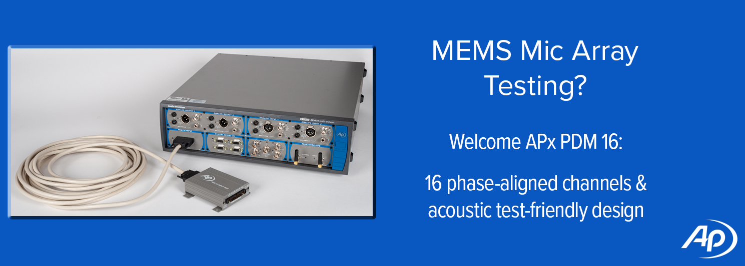 APx PDM 16 Module for MEMS Mic Array Testing