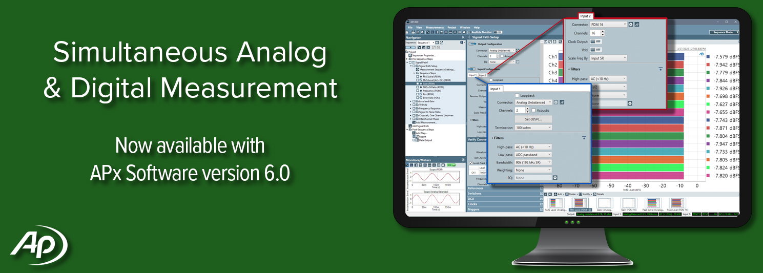 APx Software Version 6.0 Now Available