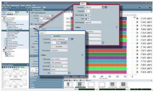 Multiple Simultaneous Input Types - APx500 Audio Measurement Software Version 6.0