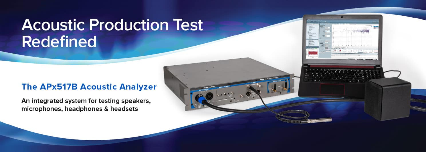 The APx517B Acoustic Analyzer