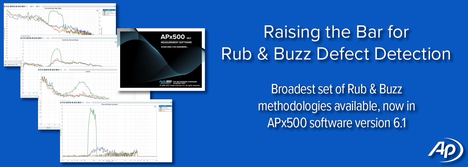 Raising the Bar for Rub & Buzz Defect Detection - APx Software v6.1
